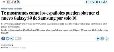 Una web plagia el diseño de 'El País' para engañar con una falsa promoción