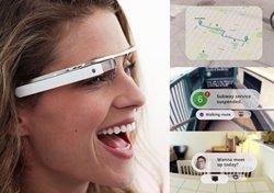A la izquierda de la imagen las gafas de Google y a la derecha la visión a través de ellas. (Foto: Google Imágenes)