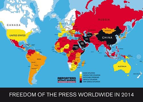 Los conflictos armados y la seguridad nacional amenazan la libertad de prensa