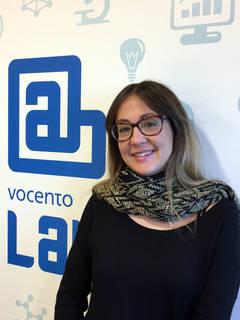 María Sainz en las instalaciones del VocentoLab, en Madrid.