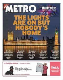 'Metro' se convierte en el diario más leído en Reino Unido