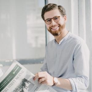 Nathaniel Barning, editor en jefe y cofundador de Knowhere News
