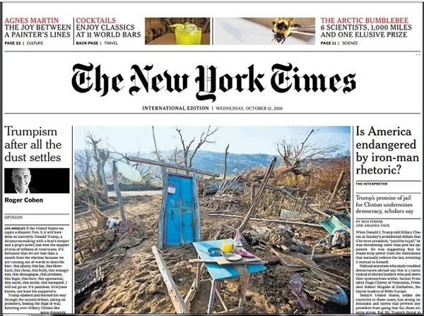 Así es la nueva edición internacional del 'New York Times'