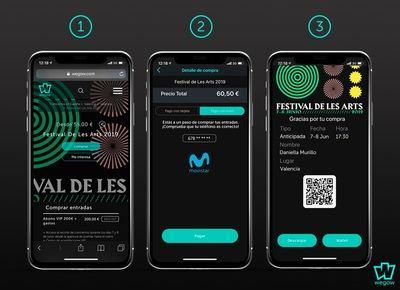 Los clientes de Movistar podrán cargar las entradas de conciertos en la factura de su móvil
