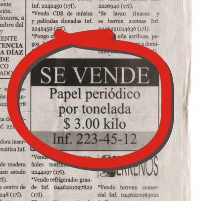 Los diarios españoles siguen atados al papel