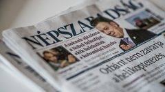 El principal periódico de Hungría echa el cierre