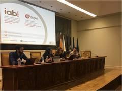 De izquierda a derecha, Juan Porcuna (Spotify), Belén Acebes (IAB Spain), Rosario Borrego (nPeople) y Antonio Traugott (IAB Spain).