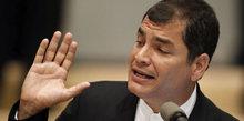 El presidente ecuatoriano enojado con la prensa independiente
