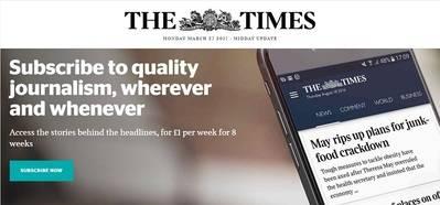 Las suscripciones de 'The Times' crecen un 200% tras un cambio de estrategia