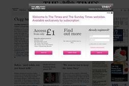 Muro de pago de 'The Times'