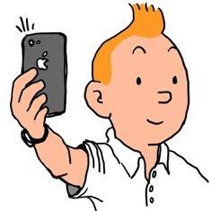 ¿Sabría Tintín hacerse una autofoto con un iPhone?