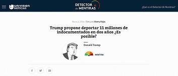 Univisión lanza el Detector de Mentiras de políticos