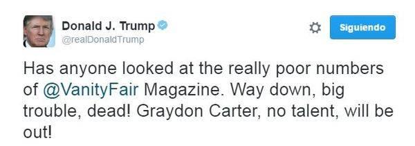 Trump dispara las suscripciones de 'Vanity Fair'
