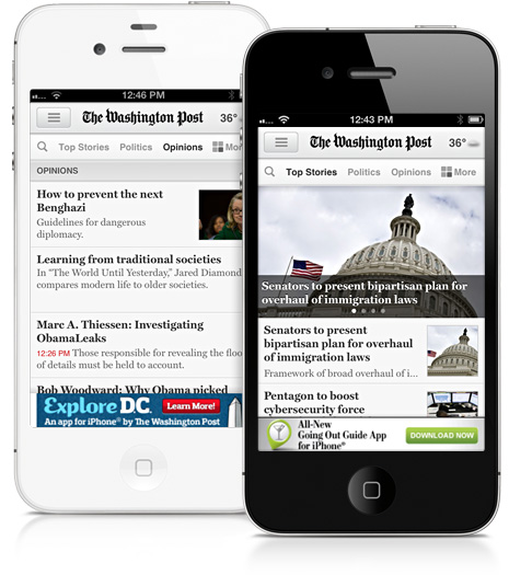 """The Washington Post"" prueba una web móvil ""veloz como un rayo"""