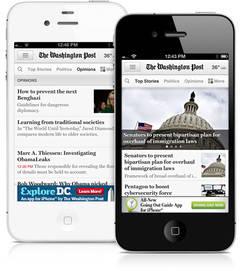 """The Washington Post"" prueba una web móvil ""veloz como un rayo"""