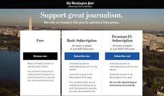 'The Washington Post' levanta un muro de pago contra el GDPR