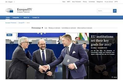 El Parlamento Europeo estrena su web TV