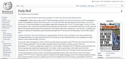 Wikipedia veta a los tabloides sensacionalistas
