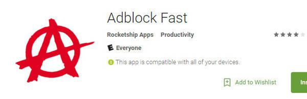Adblock Fast vuelve a la Play Store