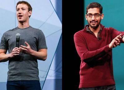 Zuckerberg y Pichai